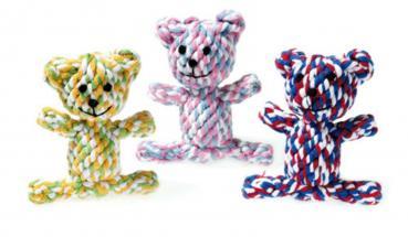 Hundespielzeug Puppy Baumwoll Bärchen für Welpen
